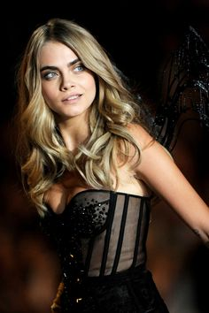 Cara Delevigne at the 2013 Victoria's Secret Fashion Show