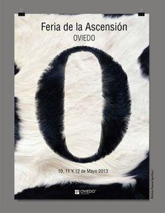 Cuarto puesto en el concurso de diseño de cartel para la feria de la ascensión 2013 de Oviedo por grafias.