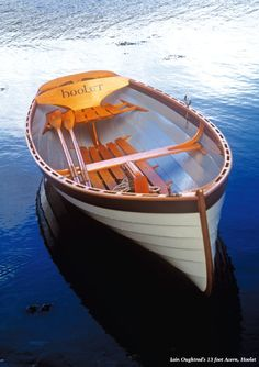 An adorable plum bow on this dinghy.