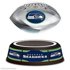 Seattle Seahawks NFL Illuminated Levitating Football Sculpture