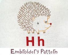 hedgehog-I made this in one day, my first embroidery project ever & it's adorable!