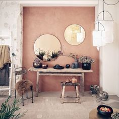 Fendi Color in Decoration - 60 Photos Incredible - Home Fashion Trend Room Inspiration, Interior Inspiration, Home Bedroom, Bedroom Decor, Murs Roses, Interior Decorating, Interior Design, Elle Decor, Wall Colors