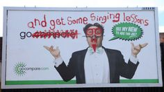 Go Compare billboards defaced