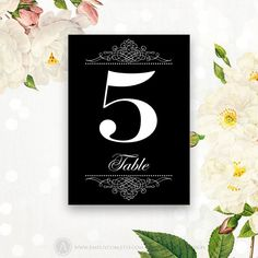 Printable Table Numbers Cards Chalkboard  5 x 7 by AmeliyCom, $10.00
