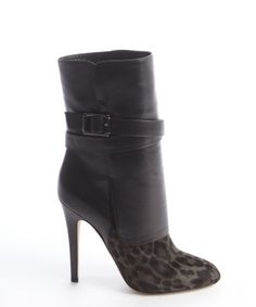 Jimmy Choo : smoke black and leopard print calf hair boots...LOVE THESE!!!!