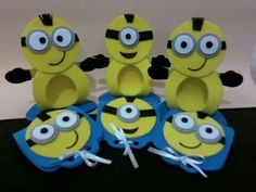 Porta bombom Pencil Toppers, Minion Party, Animal Crafts, Felt Art, Origami, Cool Art, Diy And Crafts, Projects To Try, Baby Shower