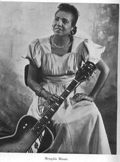 Memphis Millie - A highly competitive guitarist, she once beat the legendary Big Bill Broonzy in a 1933 contest, and was carried aloft by the crowd.