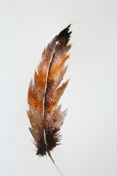 How to Do a Watercolor Painting of Bird Feathers The manner in which watercolor spreads onto the paper makes painting a feather a great beginner's project. Create various looks by simply altering colors. Feather Drawing, Watercolor Feather, Feather Painting, Feather Art, Bird Feathers, Painting Flowers, Watercolor Pencils, Watercolor Projects, Watercolour Tutorials