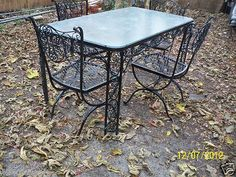woodard patio set offered on ebay starting at vintage metalpatio setswrought iron