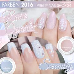 #rose   #serenty   #color   #nails   #nailart   Rose Quartz und Serenty, diese beiden weichen Pastelltöne sind unsere Farben 2016. Egal ob solo oder in einer soften Kombi, von beiden Tönen werden wir in den nächsten Monaten sicher noch einiges zu sehen bekommen. Eure Martina