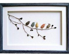 Birds Wall Art, Pebble Art Birds, Nursery Decor, Rustic Home Decor, New