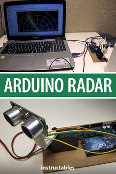 Make a cool looking Arduino radar using an ultrasonic sensor that allows you to detect objects within a short range. Useful Arduino Projects, Computer Projects, Pi Projects, Diy Electronics, Electronics Projects, Arduino Radar, Kawasaki Vn 800, Arduino Books, Arduino Class