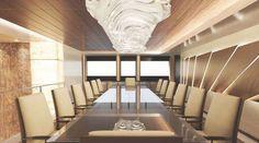 Lavish Illusion Superyacht Living Area Meeting Room