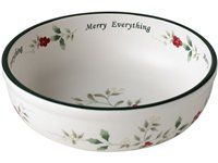 22-oz. Winterberry Merry Everything Candy Bowl by Pfaltzgraff  #holidaycooking