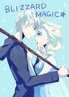 Blizzard magic! The Jack and Elsa couple fan art is my favorite! :-)
