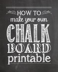 to Make Your Own Chalkboard Printables - How To Nest For Less I want to learn how to make my own chalkboard Christmas cards! want to learn how to make my own chalkboard Christmas cards! Chalkboard Stencils, Make A Chalkboard, Chalkboard Writing, Chalkboard Lettering, Chalkboard Designs, Christmas Chalkboard, Chalkboard Ideas, Chalkboard Template, Chalkboard Drawings