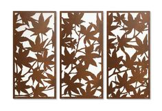 'Maple Leaf' laser cut privacy screen sequence for landscape gardens
