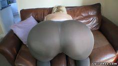 big booty in sheer lycra leggings - LYCRA ASS VIDEOS