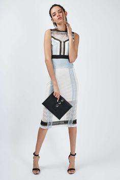 Lace Panel Midi Dress - Dresses - Clothing - Topshop USA
