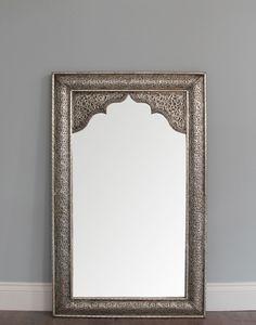 Moroccan Mirror Antique Silver Finish