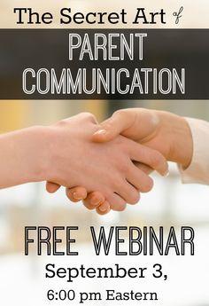 Parent Communication: Free Webinar for Preschool, Pre-K, and Kindergarten Teachers September 3, 2015