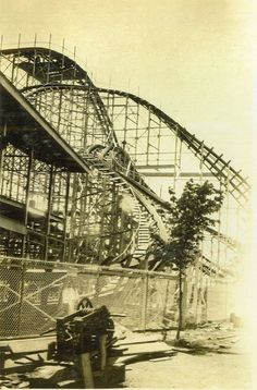 The Cyclone -the winding S turn that goes around and under the station
