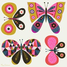 print & pattern blog: SURTEX NYC 2015 : preview of butterflies by bee brown