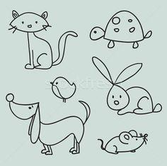Tiere zeichnen © Karola Kallai (kariiika) (#737495) | Stockfresh