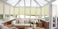 Conservatory blinds keep you cooler in summer and warmer in winter. Our made to measure blinds offer the most efficient way of controlling temperature in your home. Bathroom Blinds, Kitchen Blinds, House Blinds, Blinds For Windows, Beautiful Blinds, Made To Measure Blinds, Fabric Blinds, Window Dressings, Tecno