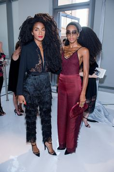 TK Quann and Cipriana Quann - Front Row Divas: Celebs Taking New York Fashion Week By Storm