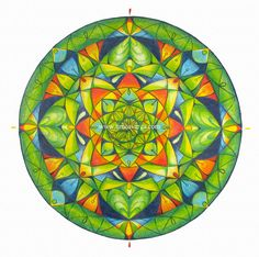 Mandala of Balance, Infinity, and Health