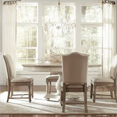 Coventry 5 Piece Dining Table Set in Weathered Driftwood and Dover  White