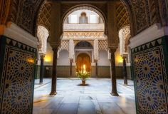 Visit the Real Alcazar of Seville Alcazar Seville, Hours Of Service, Small Fountains, South Of Spain, Throne Room, 11th Century, Ootds, Style Tile, Romanesque
