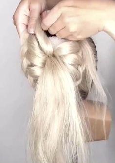 Hairdo For Long Hair, Easy Hairstyles For Long Hair, Pretty Hairstyles, Work Hairstyles, Braided Hairstyles, Hair Up Styles, Great Hair, Hair Videos, Bridesmaid Hair