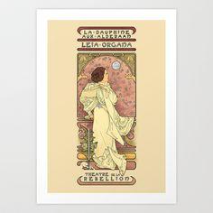 Princess Leia. La Dauphine Aux Alderaan Art Print by Karen Hallion Illustrations - $16.99