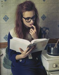 Girl With Glasses Long Brown Hair