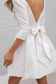 Sexy backline white dress