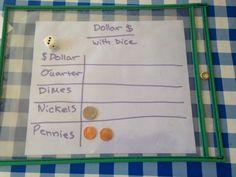 Dollar with dice