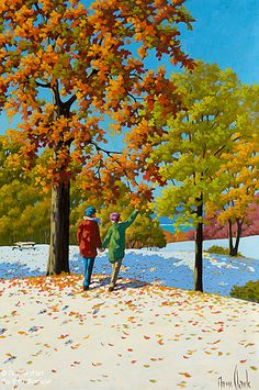 Rémi Clark, 'Sur un tapis d'hiver et d'automne', 24'' x 36'' | Galerie d'art - Au P'tit Bonheur - Art Gallery