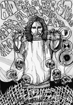 """Art By FON - KROMENDORFF """"Jim morrison.Playing with the Death"""""""