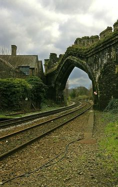 Ancient Rail Portal, Wales. I WANNA GO TO THE UK WITH ALL THAT I AM. sorry for the caps.. I'm just passionate about these things.