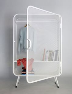 Harold is a minimalist design created by Netherlands-based designer Jesse Visser. A expanded metal cabinet that can be used as wardrobe as well as storage for offices. Furniture Inspiration, Interior Inspiration, Design Inspiration, Cool Furniture, Furniture Design, Furniture Online, Furniture Outlet, Furniture Ideas, Trendy Furniture
