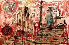 "Nicolas Pol ""Charogne Mountain""  Oil on canvas"