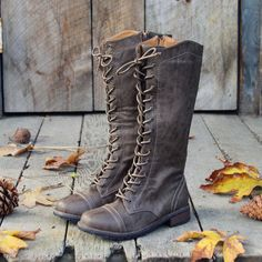 The Charlie Lace Up Boots, Rugged Lace Up Boots from Spool No.72.   Spool No.72