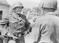 Personalities: Lieutenant General George S Patton, commander of the US 3rd Army which became operational in Normandy in July 1944, part of the 12th Army Group.