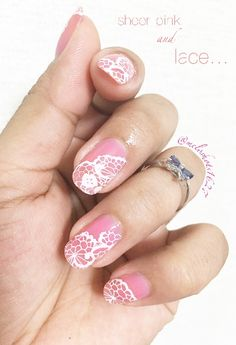 $2.39 春の歌 12*6cm Rectangle Nail Art Stamp Template Lace Design Image Plate Harunouta L006 - BornPrettyStore.com