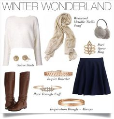 Winter Style With Westwood Metallic Trellis Scarf | Stella & Dot. Like what you see? Buy it now here: www.stelladot.com/ohsocharmed