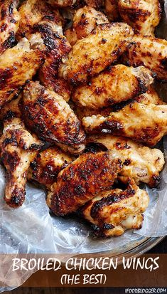 Broiled chicken wings – succulent and delicious, cooked in just 20 minutes. Forget about baked chicken wings. This is the best chicken wings recipe. Southern Baked Chicken Recipe, Best Chicken Wing Recipe, Oven Chicken Recipes, Cooking Recipes, Baked Wings Recipe, How To Cook Chicken, Cooked Chicken, How To Cook Wings, Frango Chicken