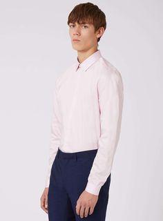 Premium Pink Egyptian Cotton Slim Fit Dress Shirt - Men's Collared Shirts - Clothing - TOPMAN USA