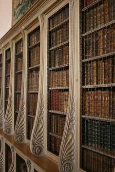 Detail of the book shelves in the library at Castle Howard.